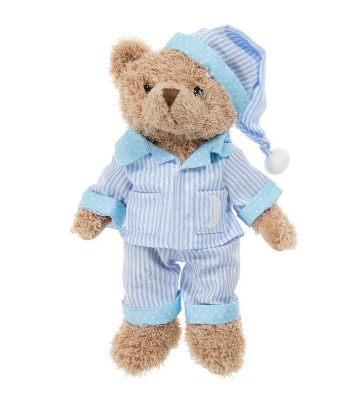 Powell Craft Blue Stripe Pajama Teddy Bear