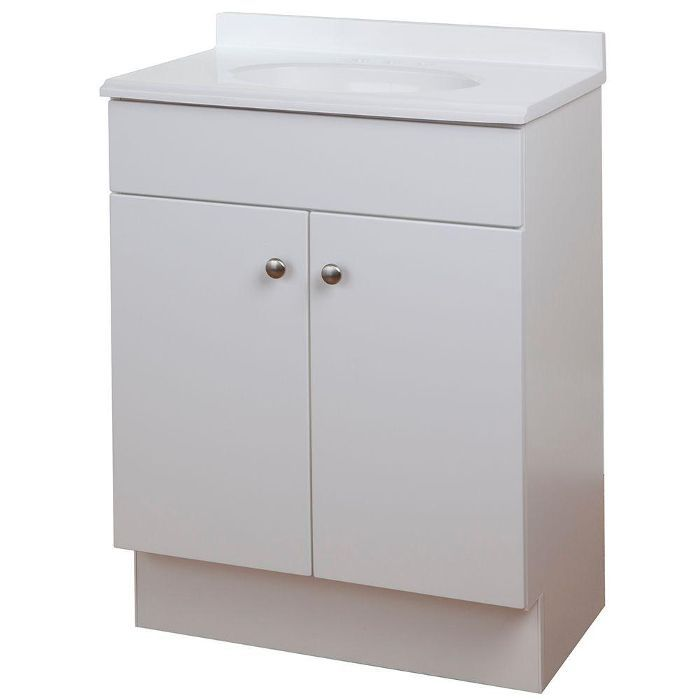 Glacier Bay Bath Vanity in White