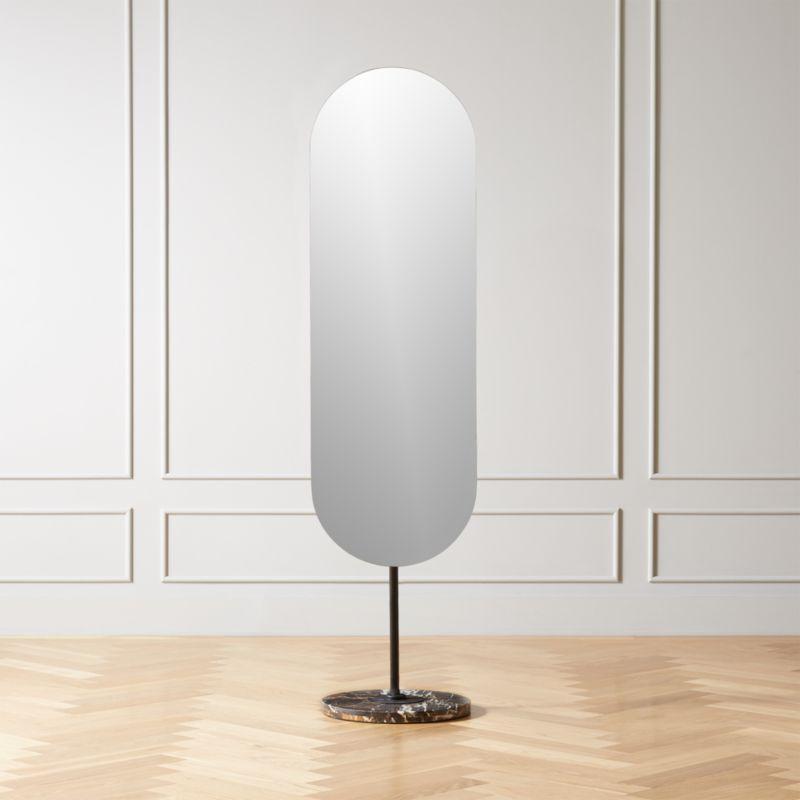 Legato espejo de piso de mármol