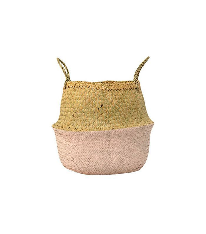 Target Seagrass Basket With Handles in Natural/Rose