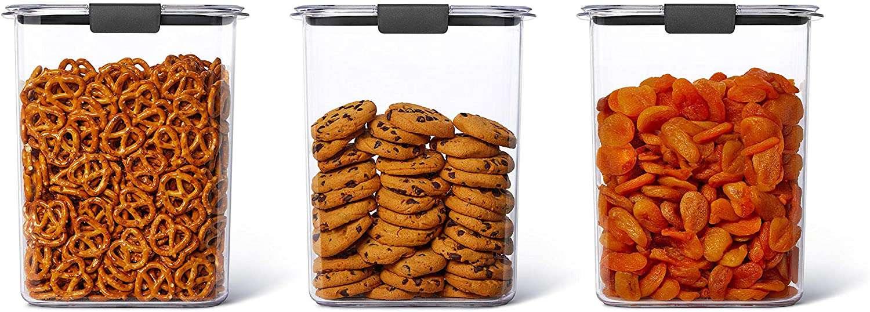 Rubbermaid Brilliance Plastic Food Storage Bulk Pantry Set of 3
