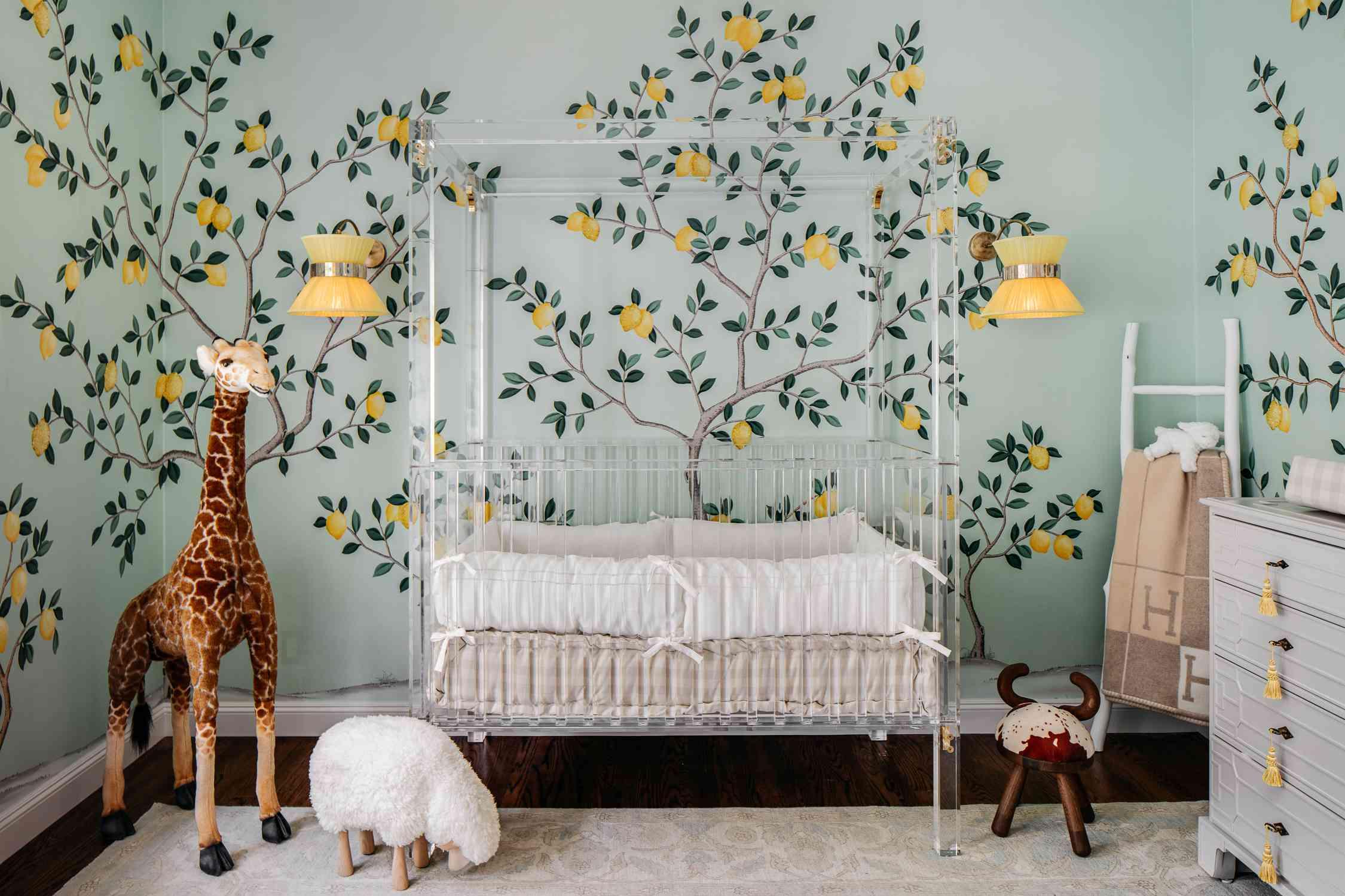 Makeover of the Week - Dina Bandman Nursery with Amalfi Coast Theme After With Crib