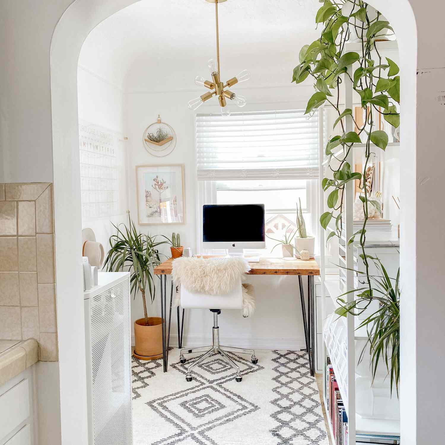 Office with white accents