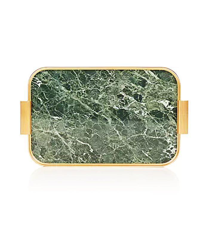Marble-Pattern Aluminum Tray