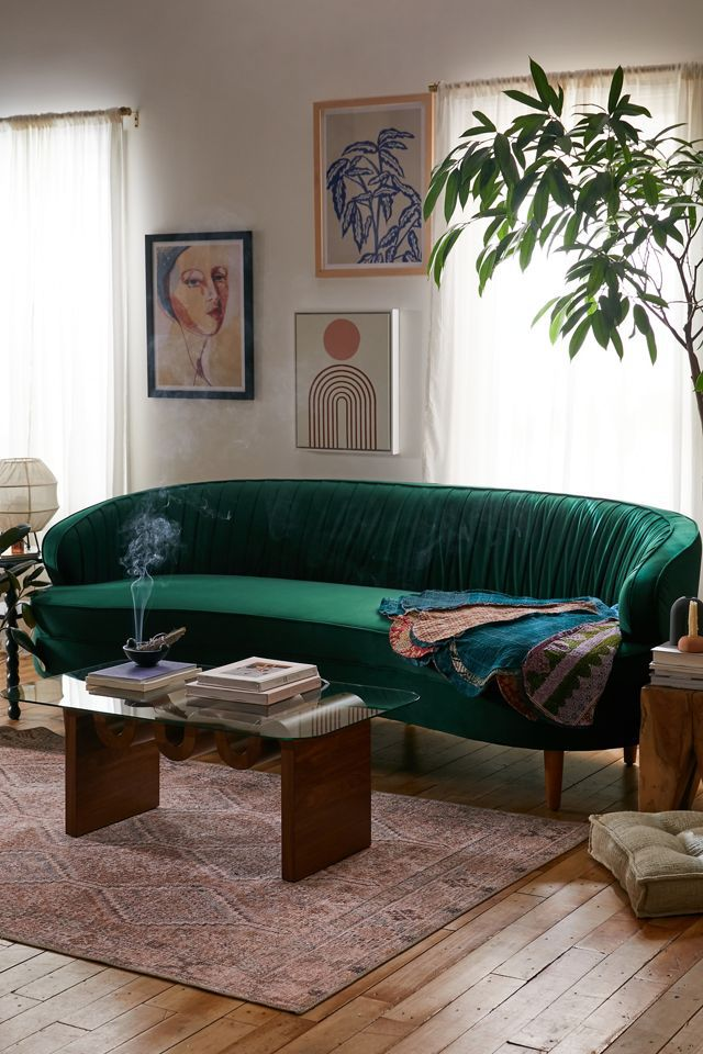 Urban Outfitters Camila Velvet Sofa