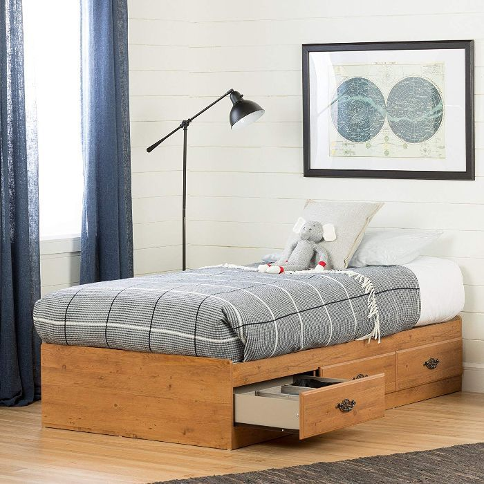 South Shore Prairie Collection Twin Bed with Storage