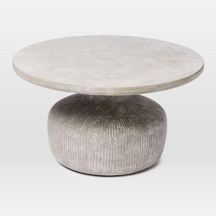 West Elm Tambor Concrete Coffee Table