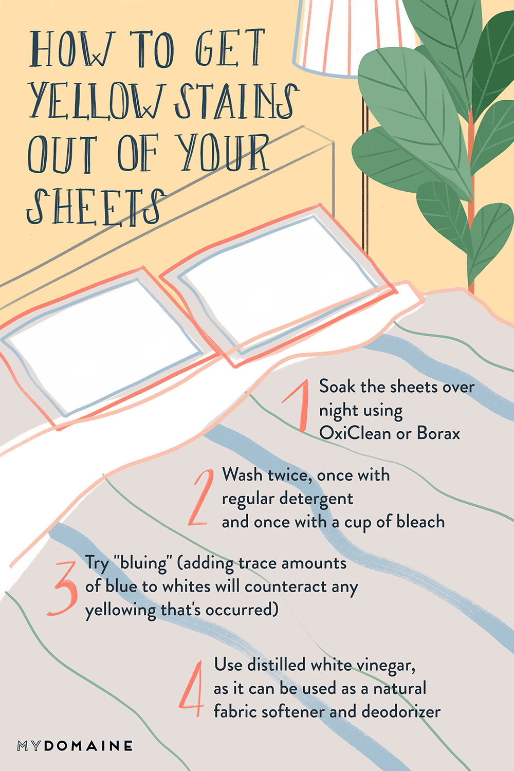 How to Get Yellow Stains Out of Your Sheets