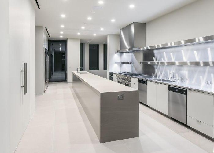 the kitchen Kim Kardashian and Kanye West's Bel Air estate