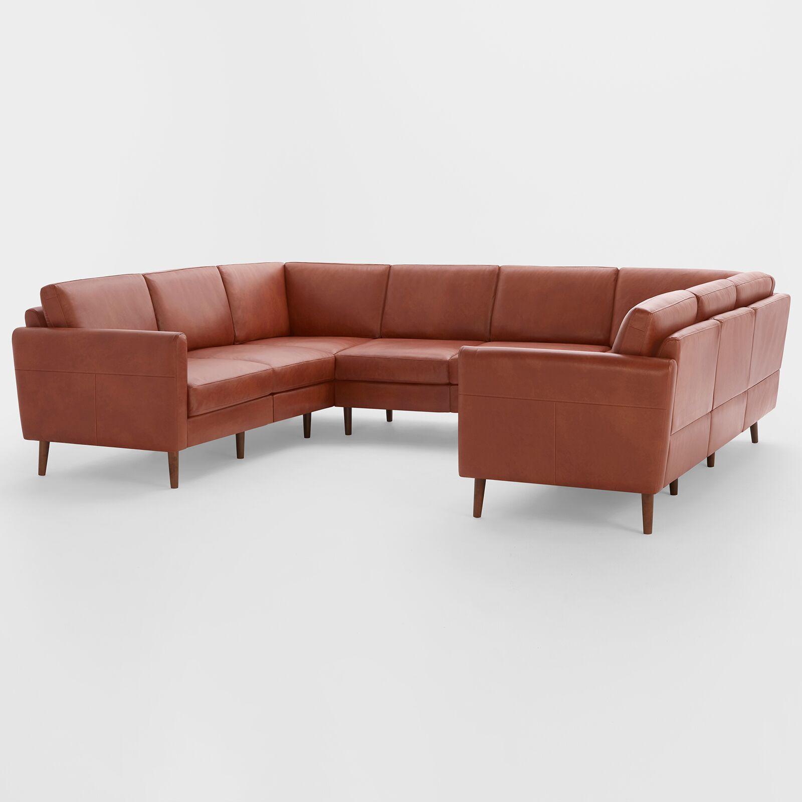 sofá seccional en forma de U