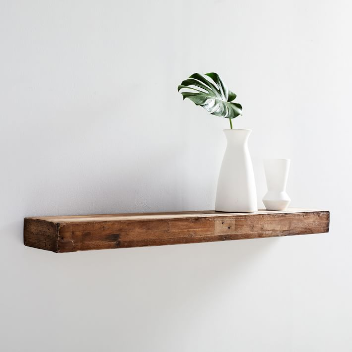Reclaimed Wood Floating Shelf, Reclaimed Pine