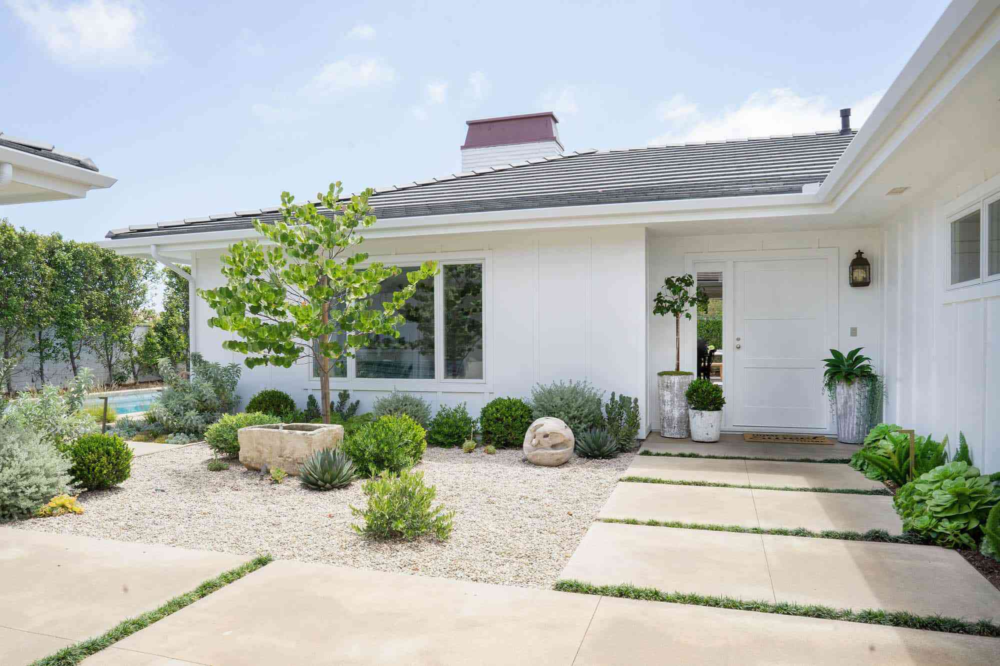 white exterior paint on house