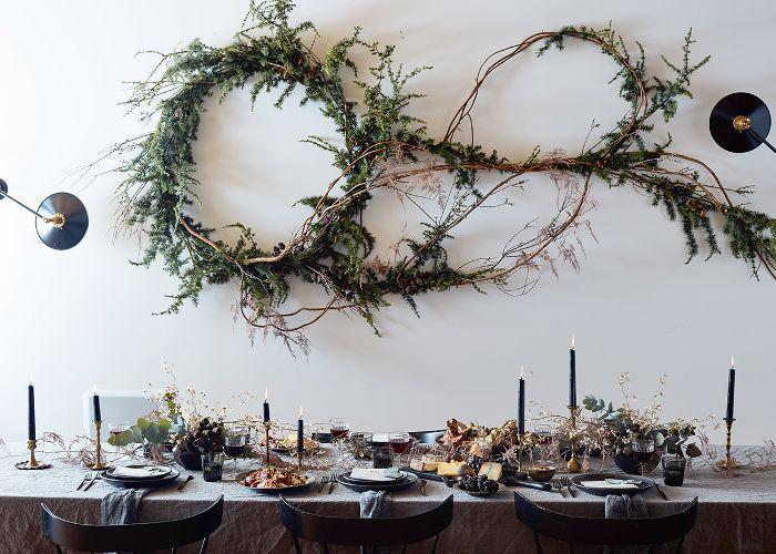 ideas de configuración de mesa de invierno