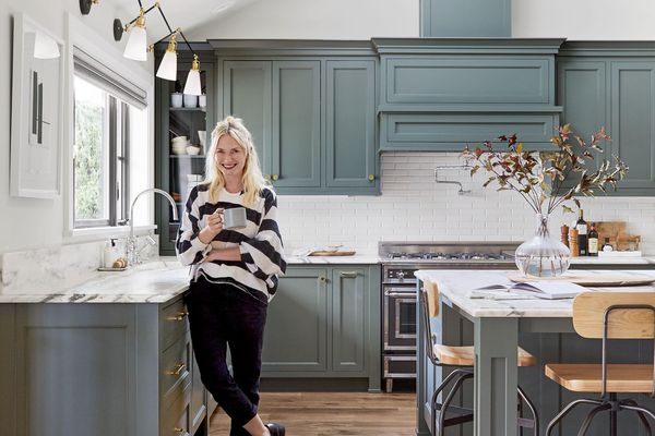 Photo of Emily Henderson in a kitchen