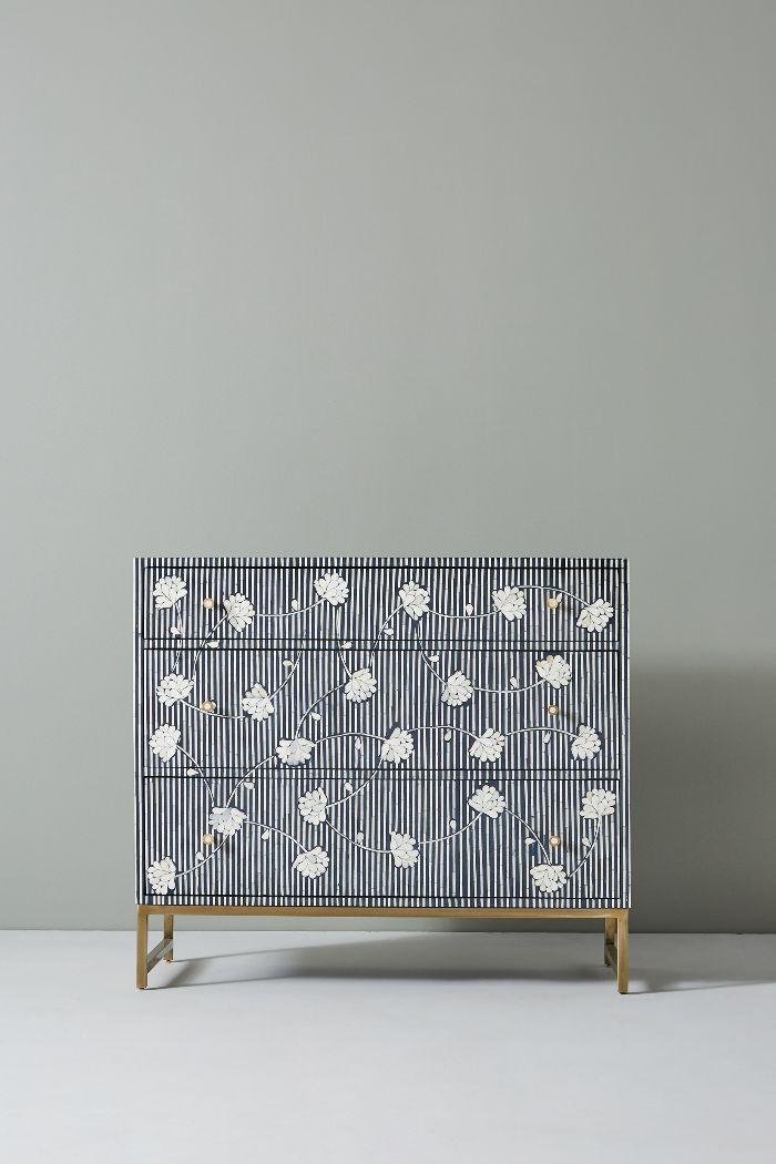 Anthropologie Ada Inlay Three-Drawer Dresser