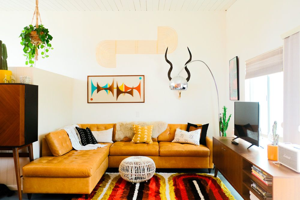 how to clean a leather sofa - leather sofa in a southwestern living room