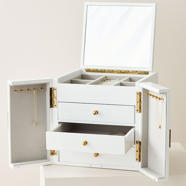 West Elm Modern Lacquer Jewelry Box