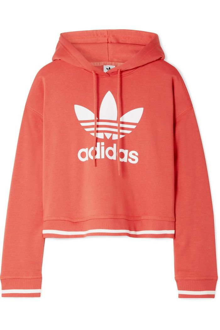 Active Icons Printed Cotton-blend Jersey Hooded Top