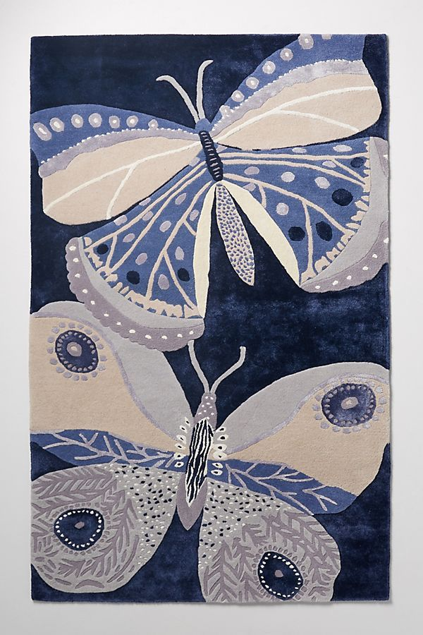 Paule Marrot 5 x 8 Tufted Butterfly Rug