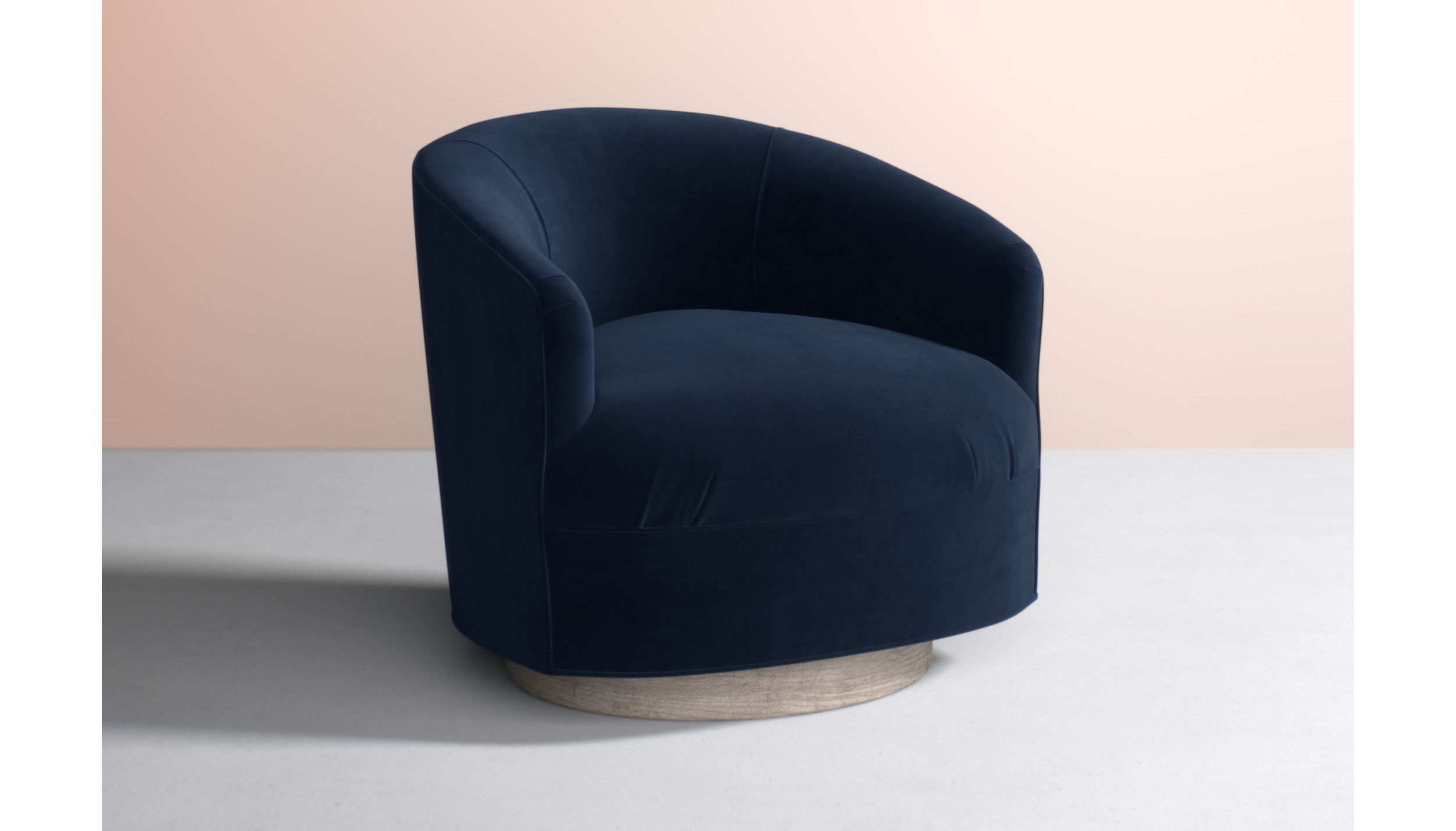 Amoret Swivel Chair in Navy