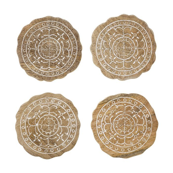 Target Wood Embellished Coasters