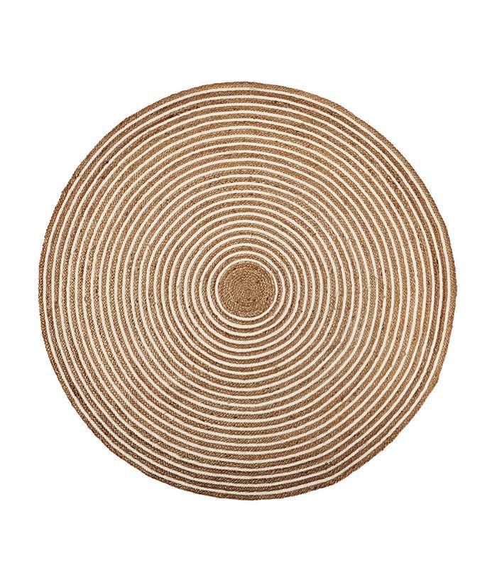 Round Cotton & Jute Rug