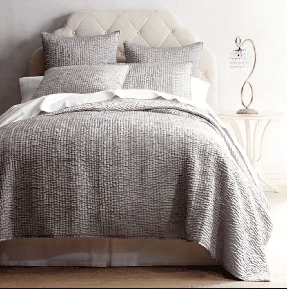 silver coverlet
