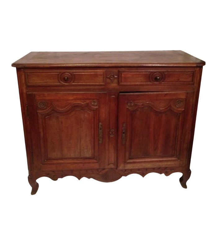 Chairish 19th Century French Louis XV Walnut Buffet