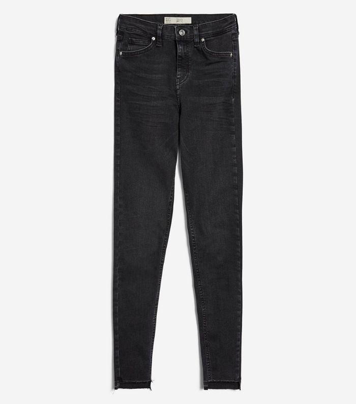 MOTO Washed Black Step Hem Jeans