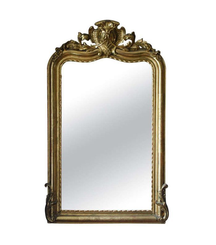 1stDibs 19th Century Gold Gilded Baroque Mirror
