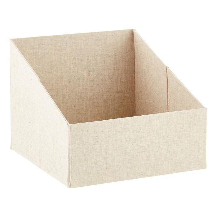 The Container Store Linen Purse Storage Bin—Minimalist Closets