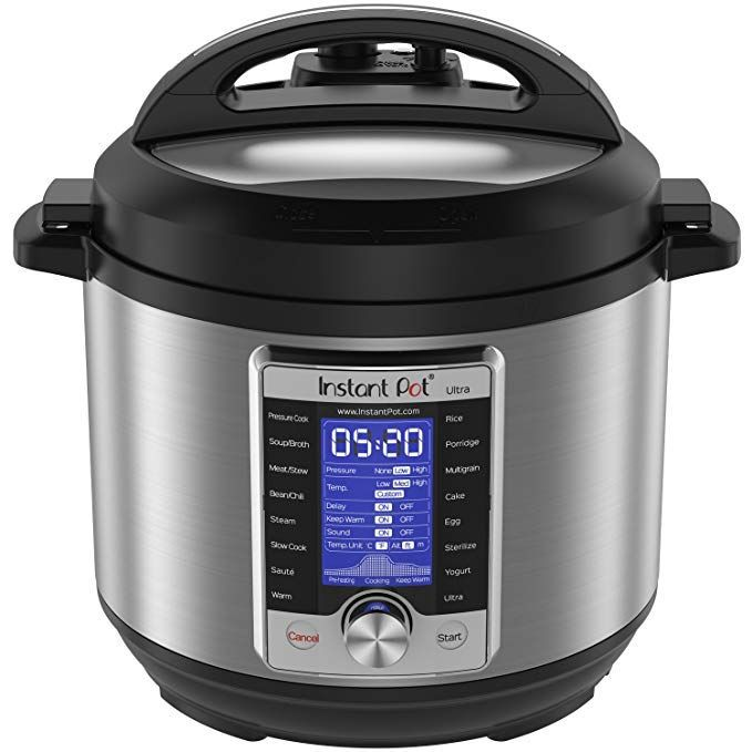 A stainless steel pressure cooker called the Instant Pot.