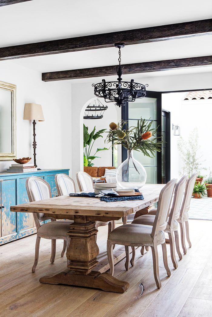 Spanish style dining room