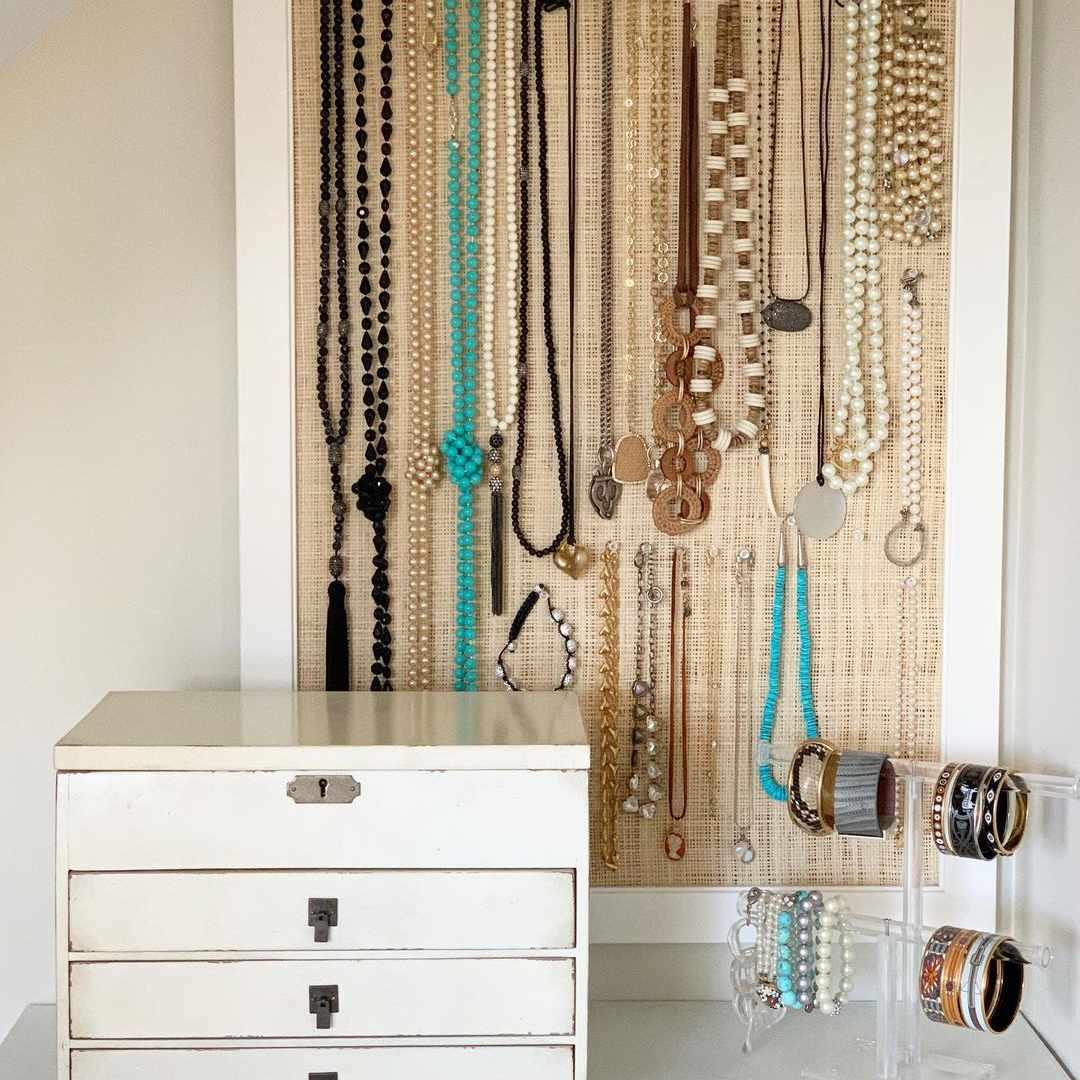 jewelry storage bulletin board