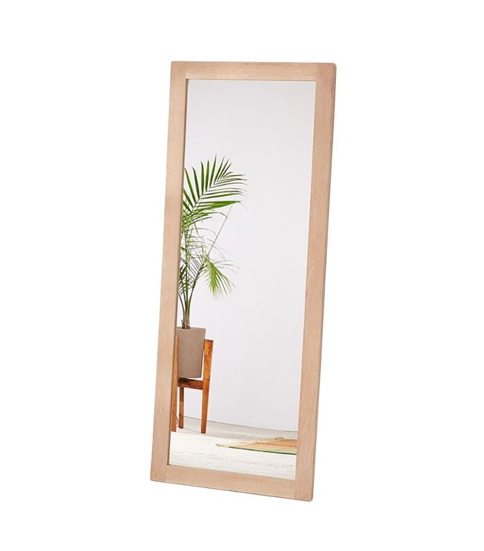 Simple Wood Mirror - Brown One Size at Urban Outfitters