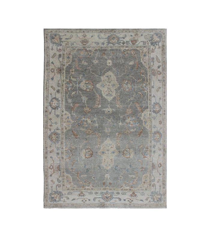 Keivan Woven Arts Vintage Gray Oushak-Style Rug
