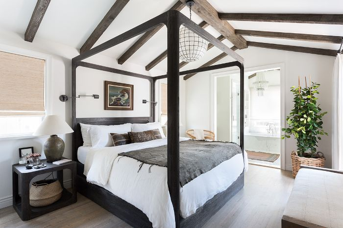 Master bedroom—four poster bed
