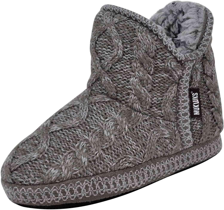 gray short slipper bootie