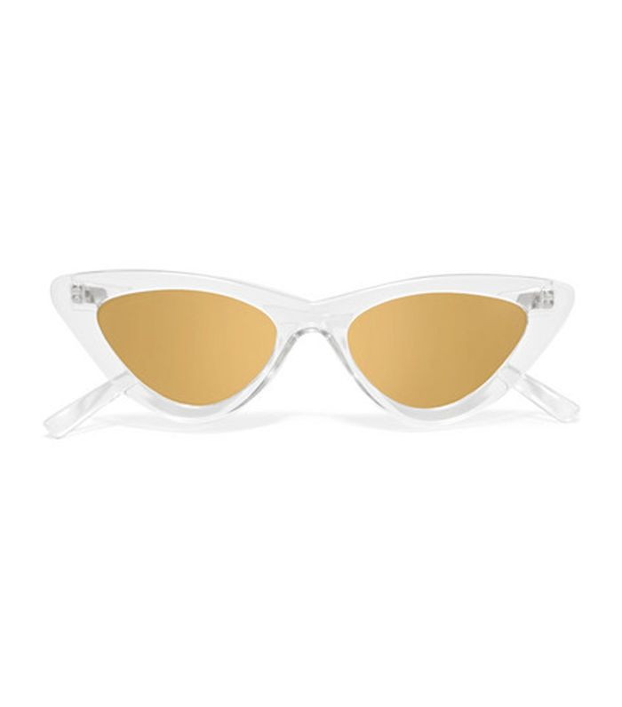 Adam Selman The Last Lolita Cat-eye Acetate Mirrored Sunglasses