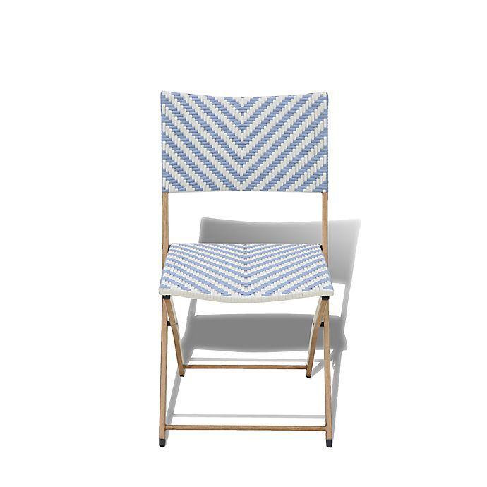 Bee & Willow Home Nantucket Wicker Folding Chair