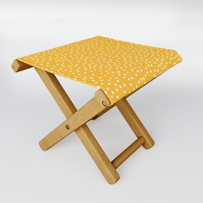 Yellow Dots Folding Chair
