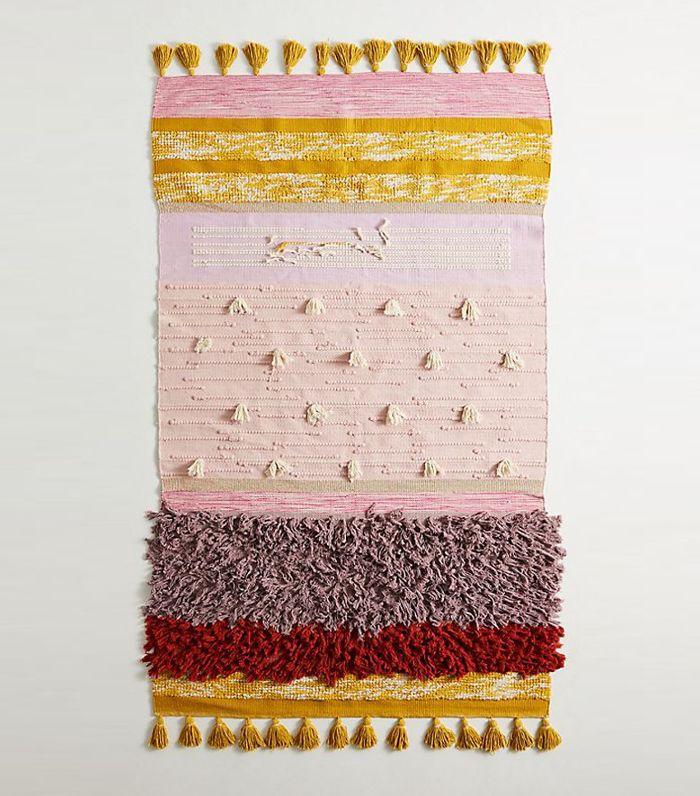 All Roads Texture-Striped Flatweave Rug