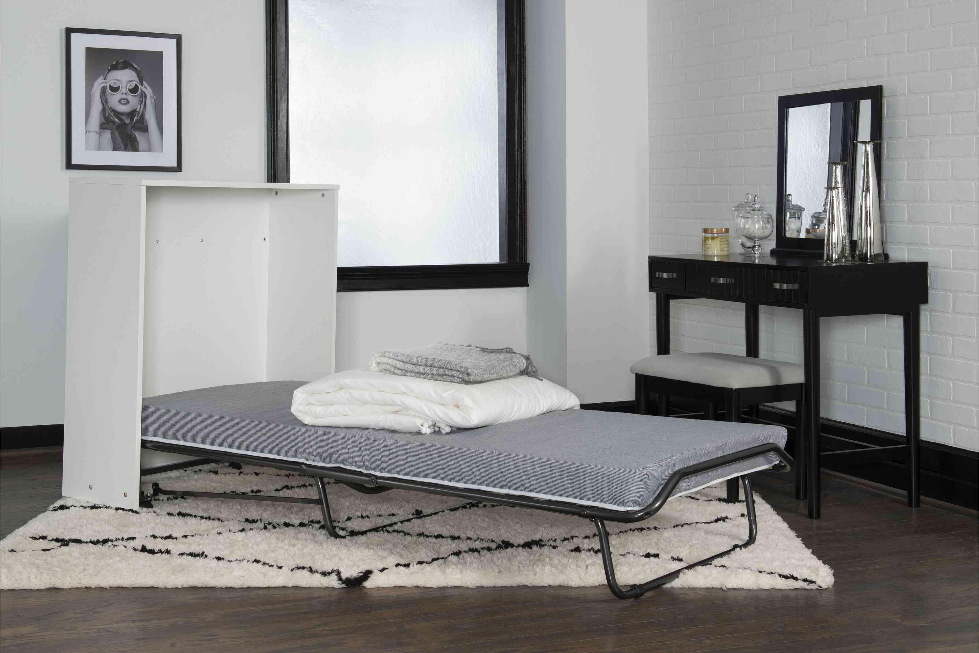 Dewitt Storage Murphy Bed with Mattress