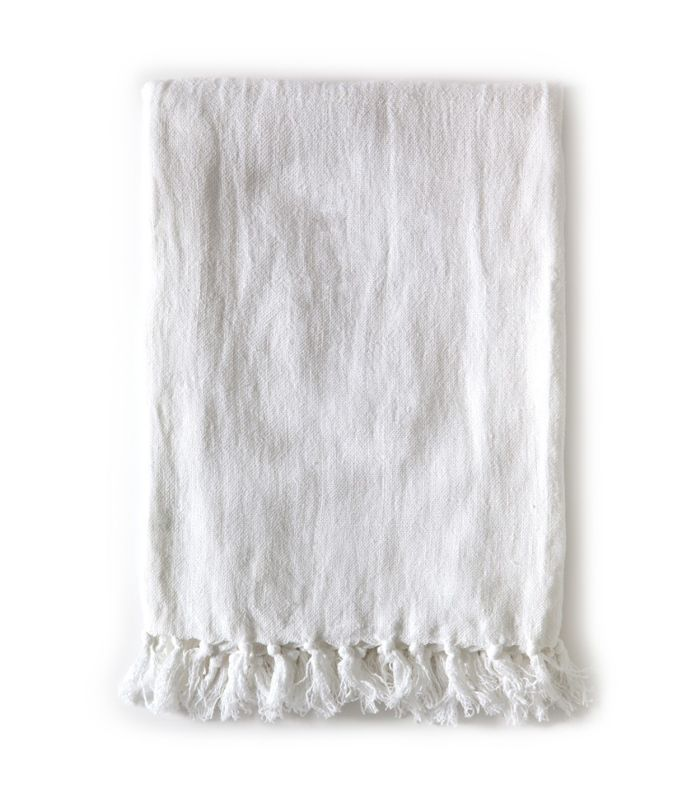 Pom Pom at Home Montauk Blanket, White