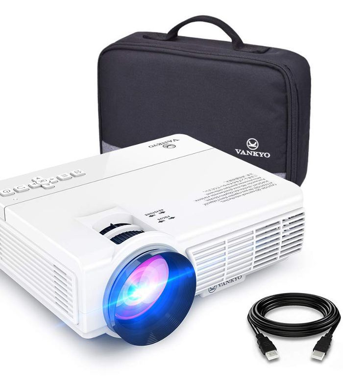 Vankyo 2400 Lux LED Portable Projector With Carrying Bag