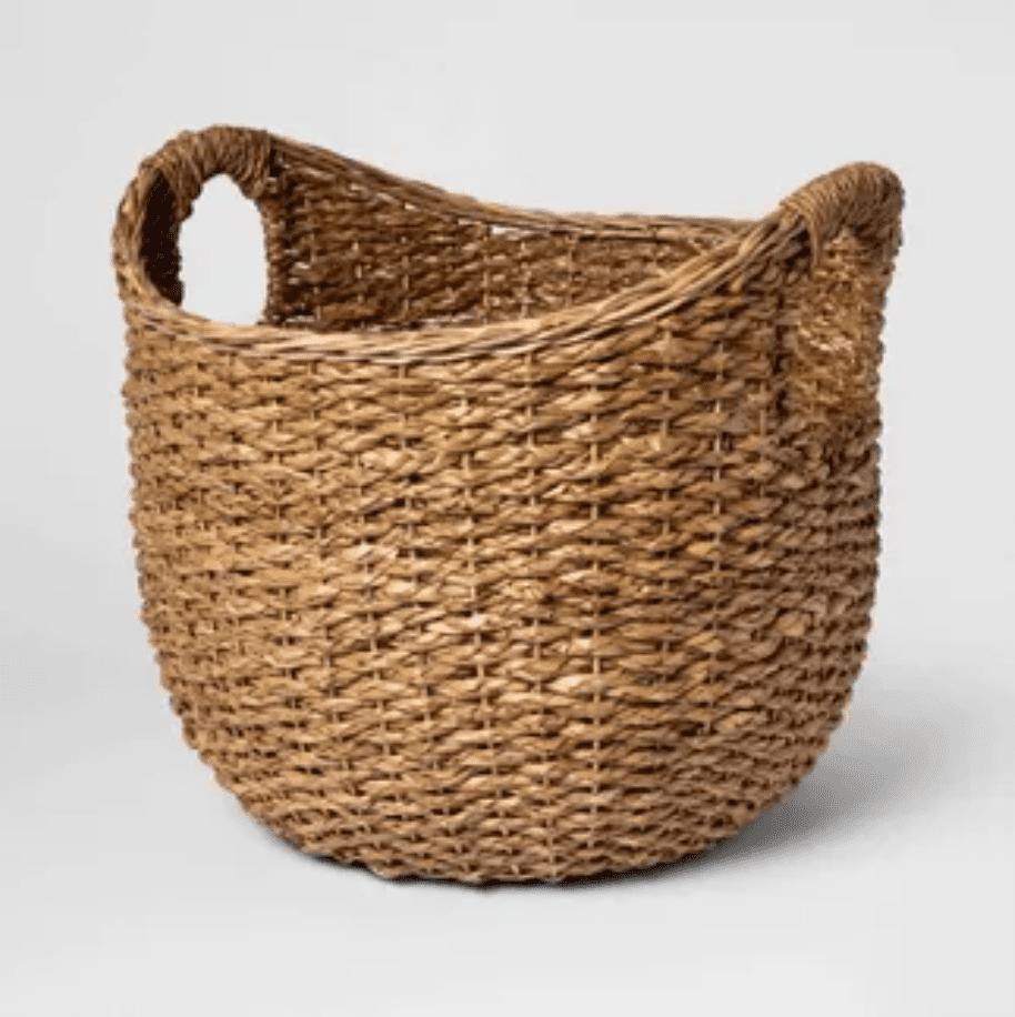 Large woven market basket