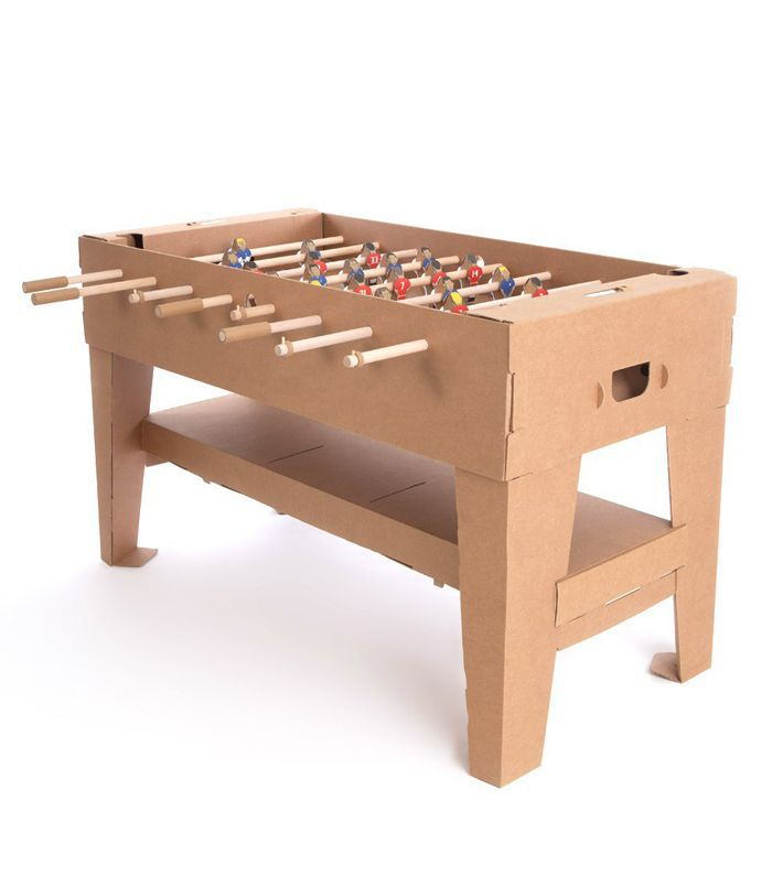 Smallable Toys Cardboard Table Football Natural