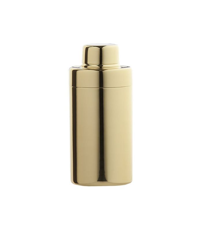 CB2 Stainless Steel Gold Mini Cocktail Shaker