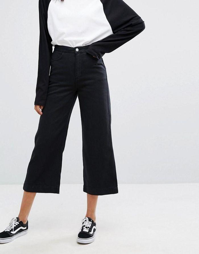 Denim Wide Leg Jeans