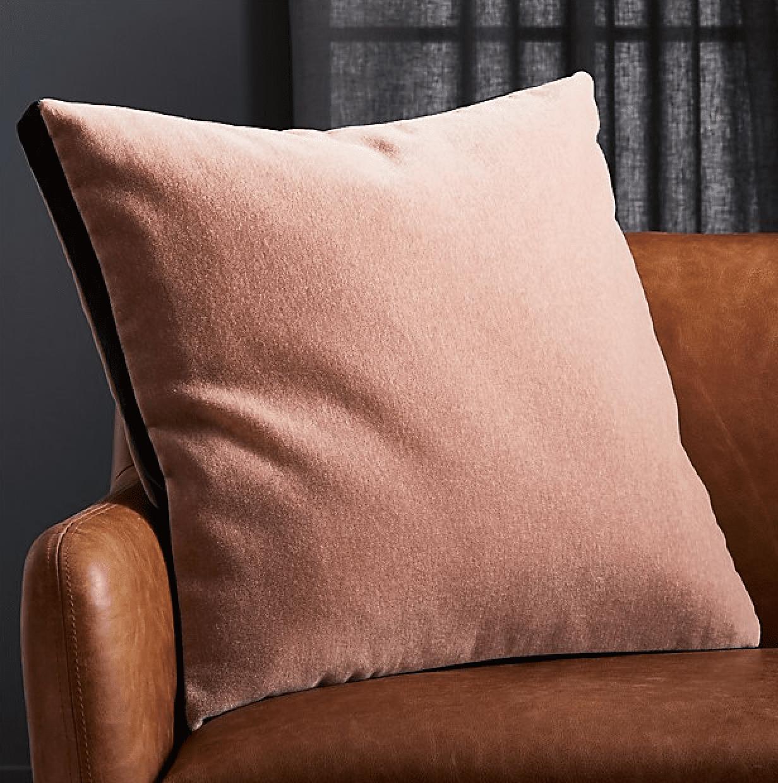 cb2 mohair pillow
